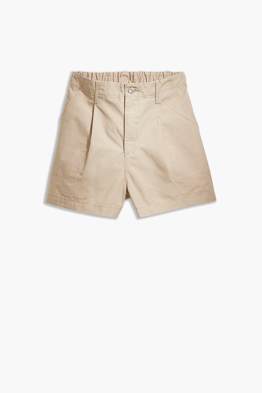 Levi's Pleated Utility Shorts Crisp Twill Nomad