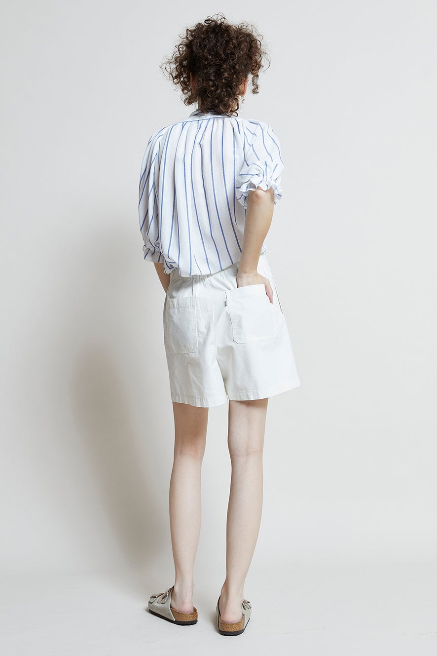 Levi's Pleated Utility Shorts Crisp Twill Tofu