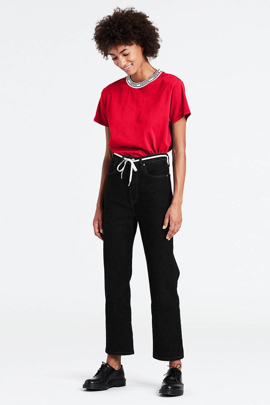 Levi's Ribcage Straight Ankle Jeans Black Heart