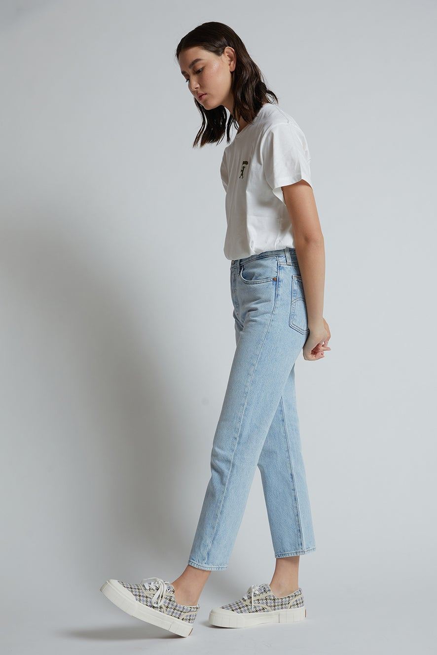 Levi's Ribcage Straight Ankle Jeans Middle Road