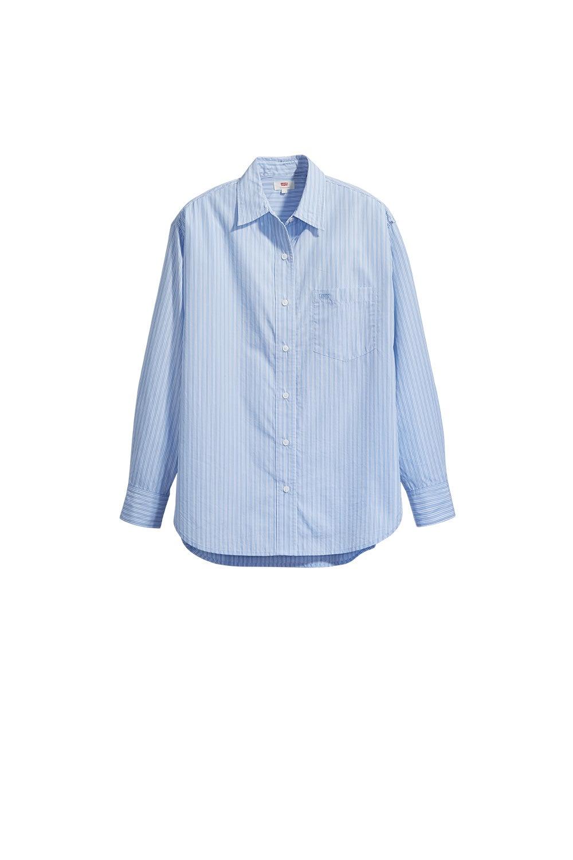 Levi's The Dad Shirt with Pocket Adelia Powder Blue Stripe