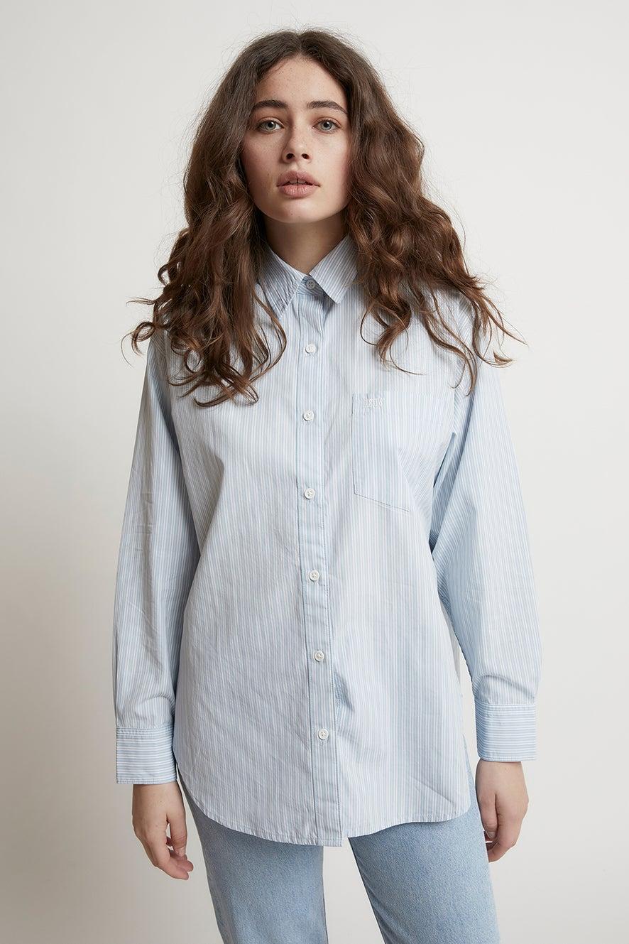 Levi's The Dad Shirt with Pocket Amaris Bright White Stripe