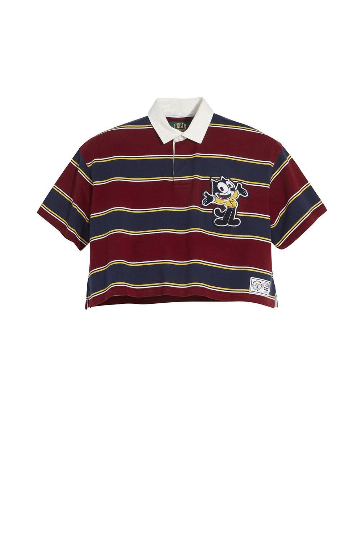 Levi's x Felix Cropped Oversized Rugby Shirt Felix Crop Cabernet