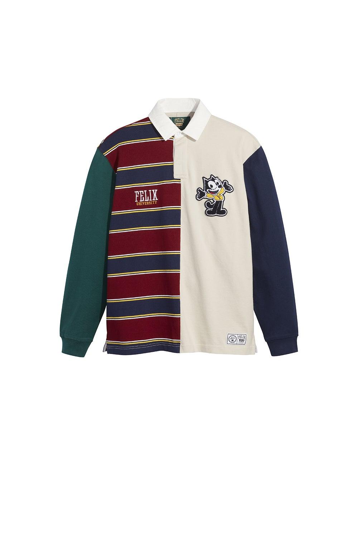 Levi's x Felix Rugby Shirt Felix Half n Half Cabernet