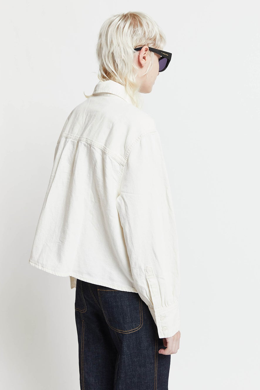 Levi's Zoey Pleat Utility Shirt Ecru