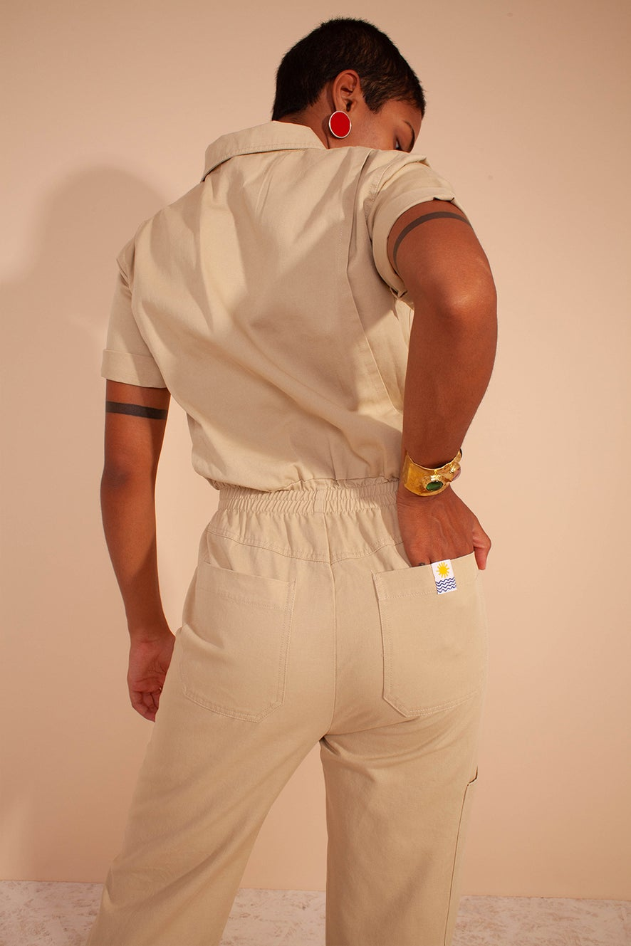 L.F Markey Danny Boilersuit Oatmeal