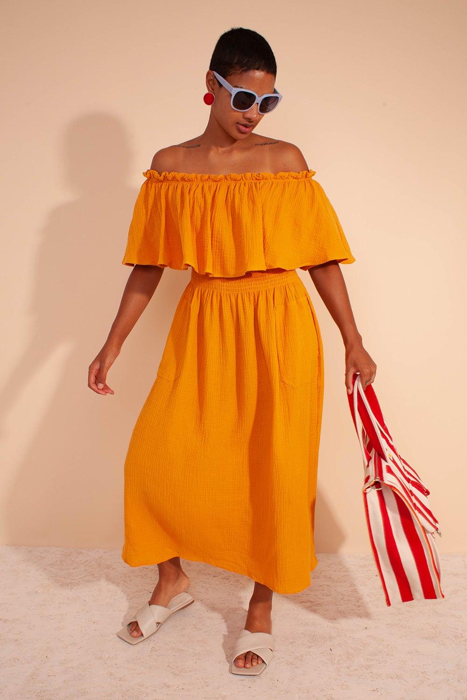 L.F Markey Otto Dress Saffron