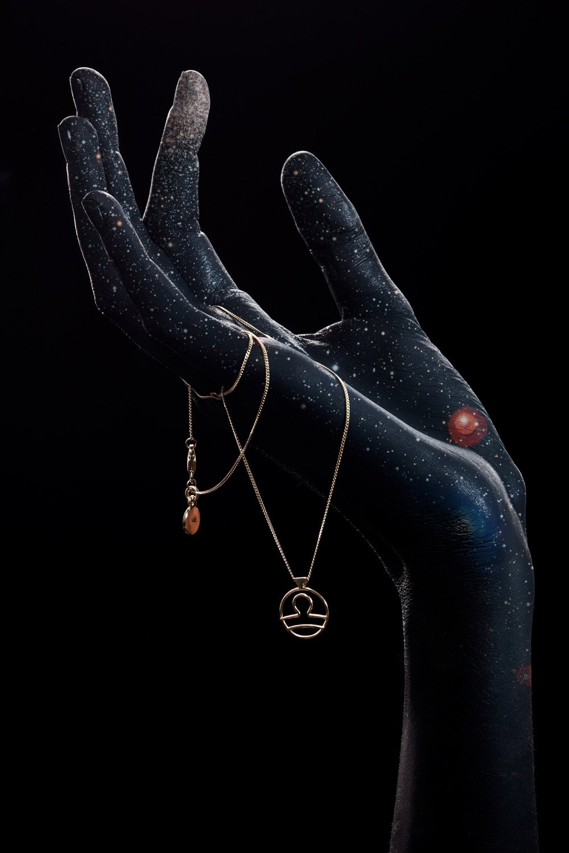 Libra Necklace Gold