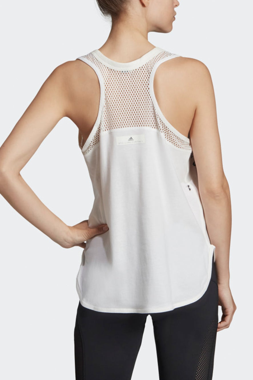 adidas by Stella McCartney Logo Tank White