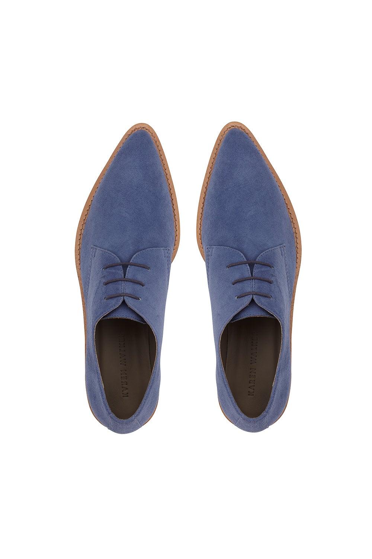 Louis Lace Up Denim Blue
