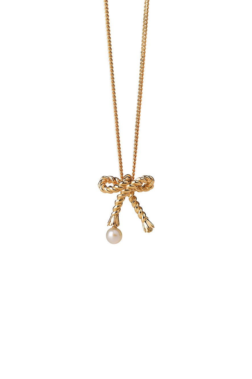 Love Knot Necklace Gold
