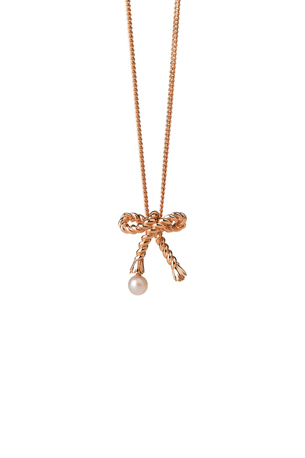Love Knot Necklace Rose Gold