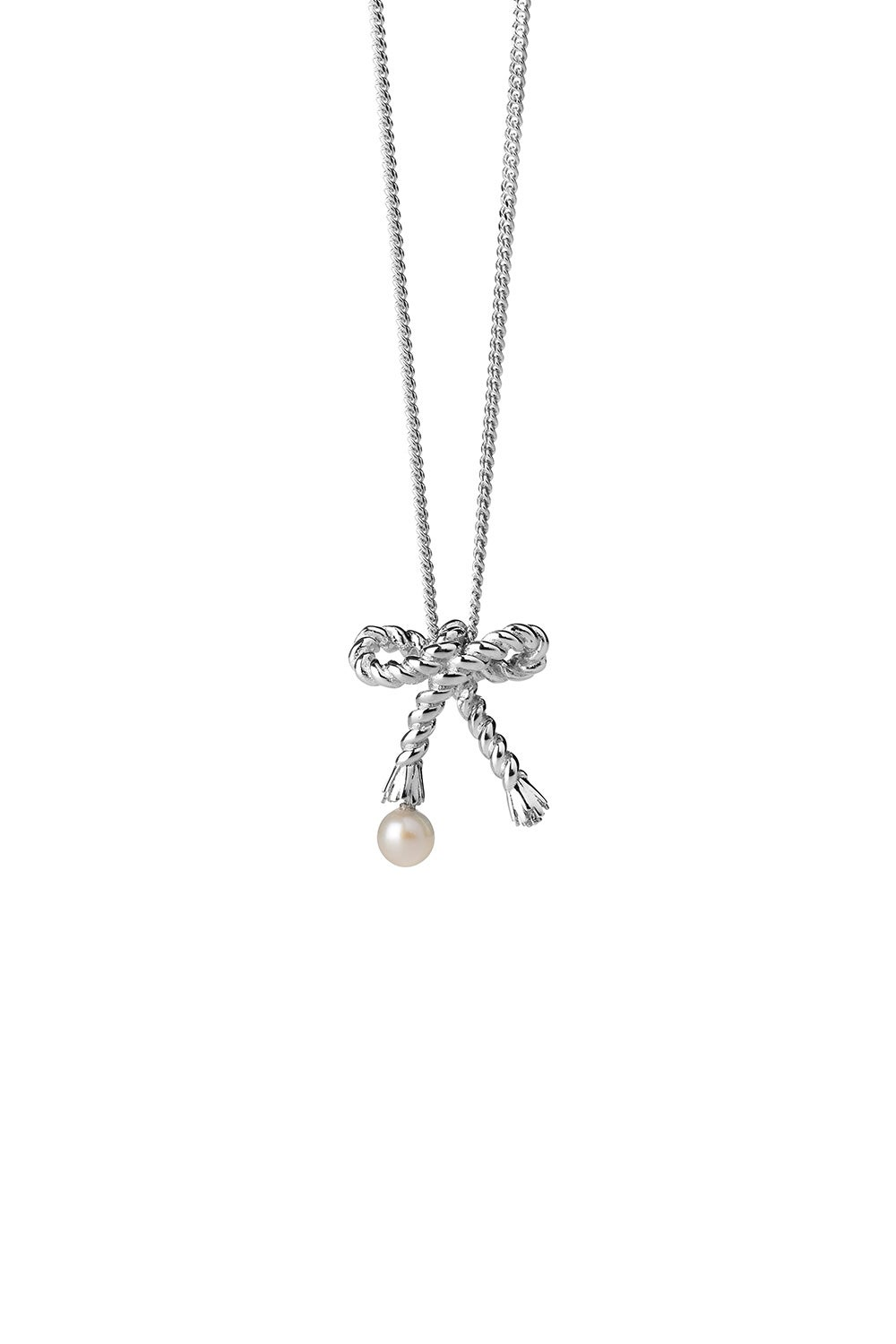 Love Knot Necklace Silver