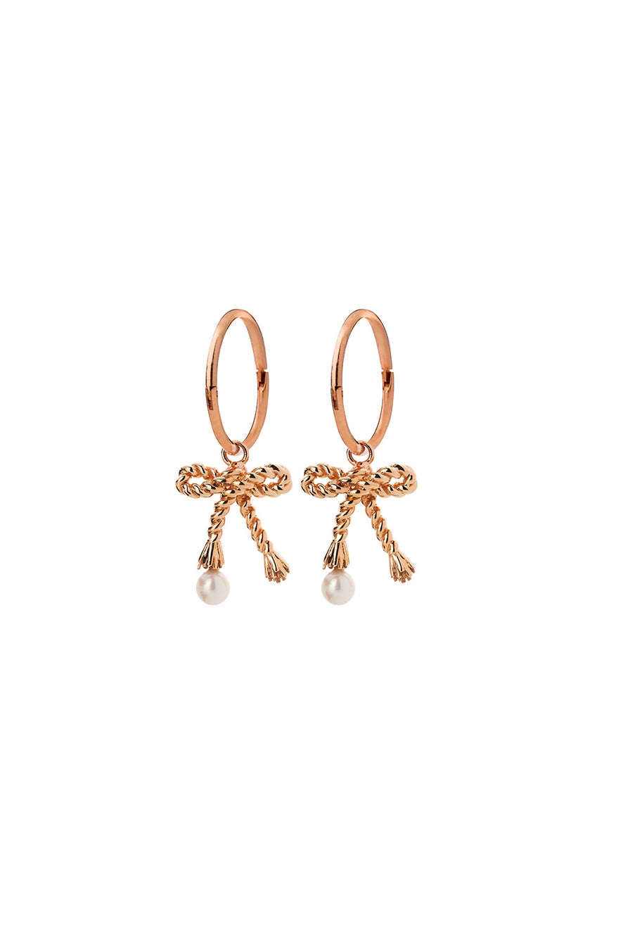 Love Knot Sleepers Rose Gold