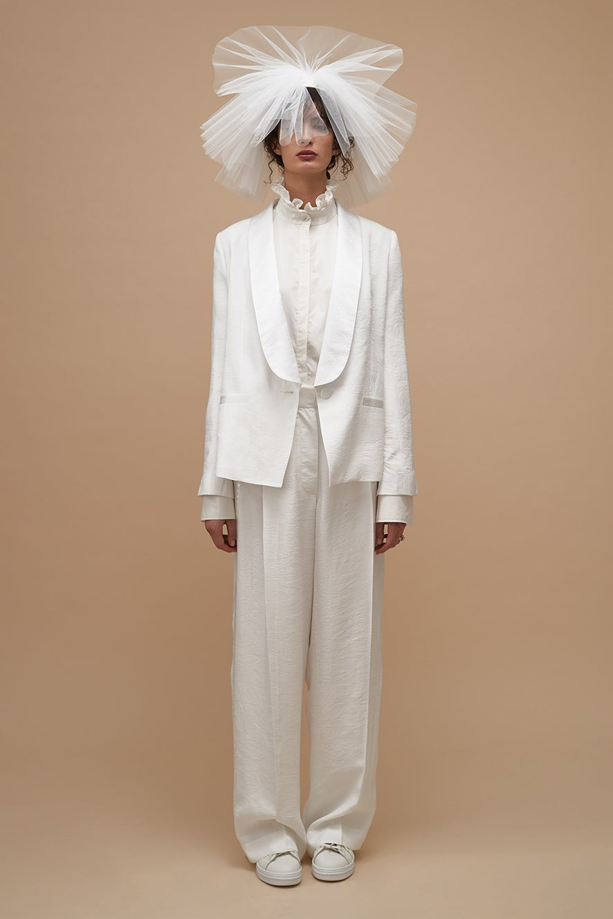 Love Tuxedo with Always Shirt and Honesty Wide Leg Trousers