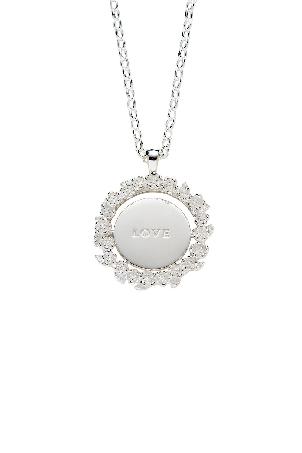Love/Hate Mood Pendant Silver