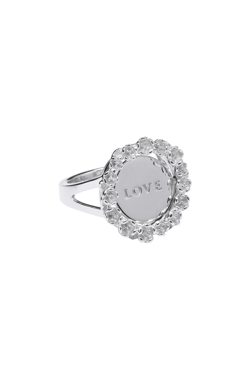 Love/Hate Mood Ring Silver