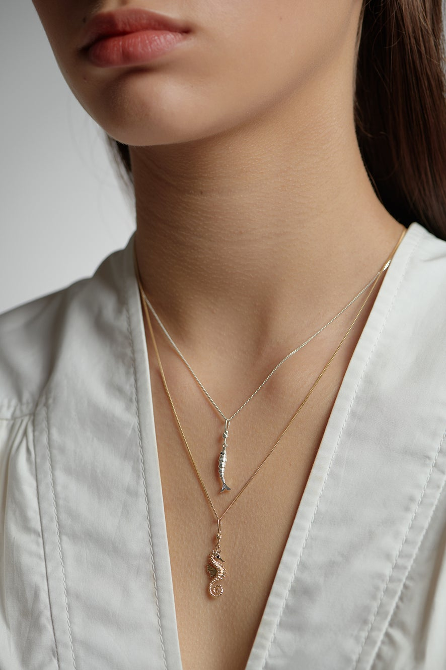 Lure Fish Necklace Rose Gold