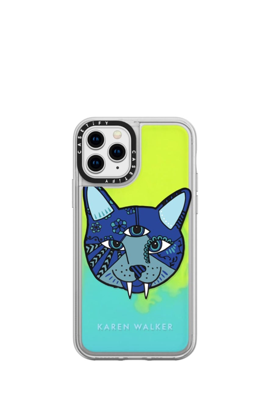 Magic Cat iPhone Case Blue