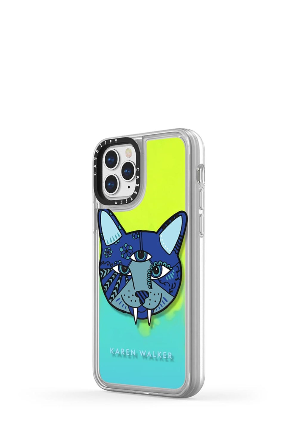 Magic Cat iPhone Case Blue