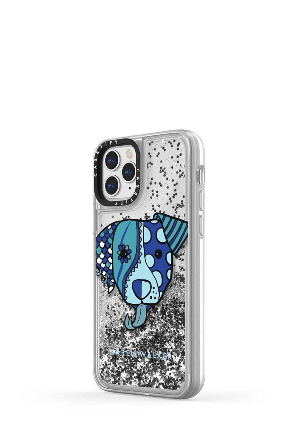Magic Dog iPhone Case Blue