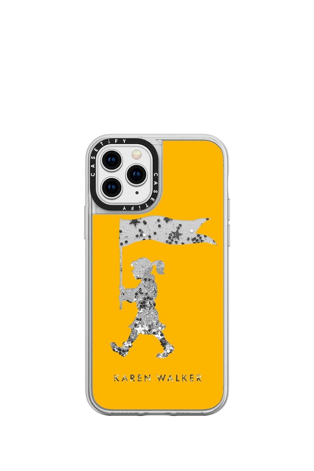 Marching Girl iPhone Case Mustard