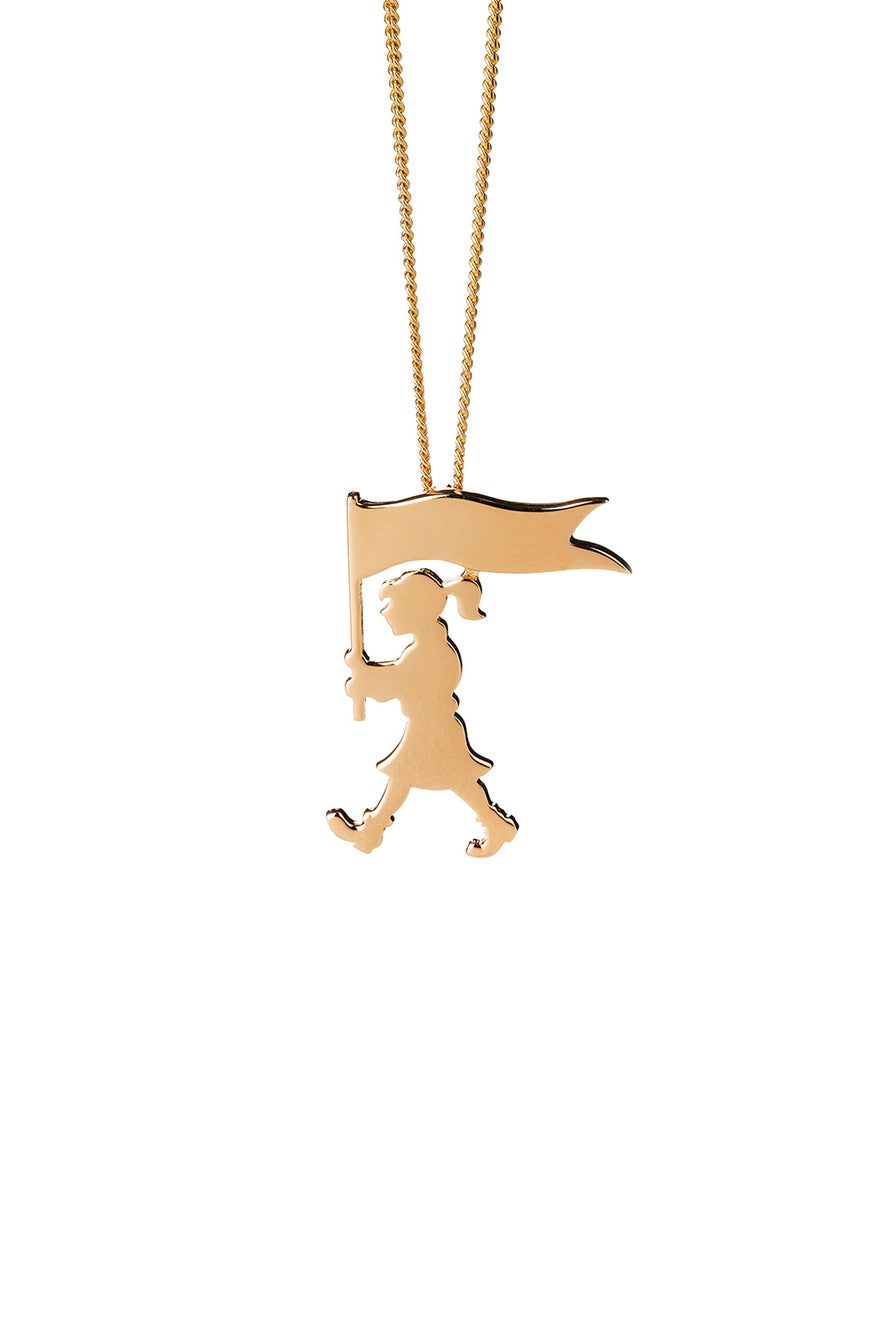 Marching Girl Necklace Gold