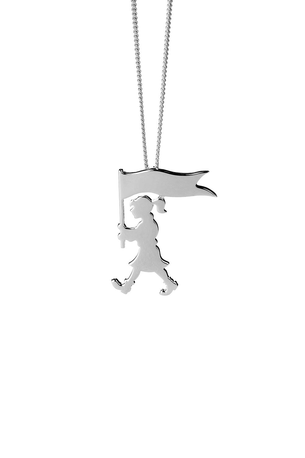Marching Girl Necklace Silver