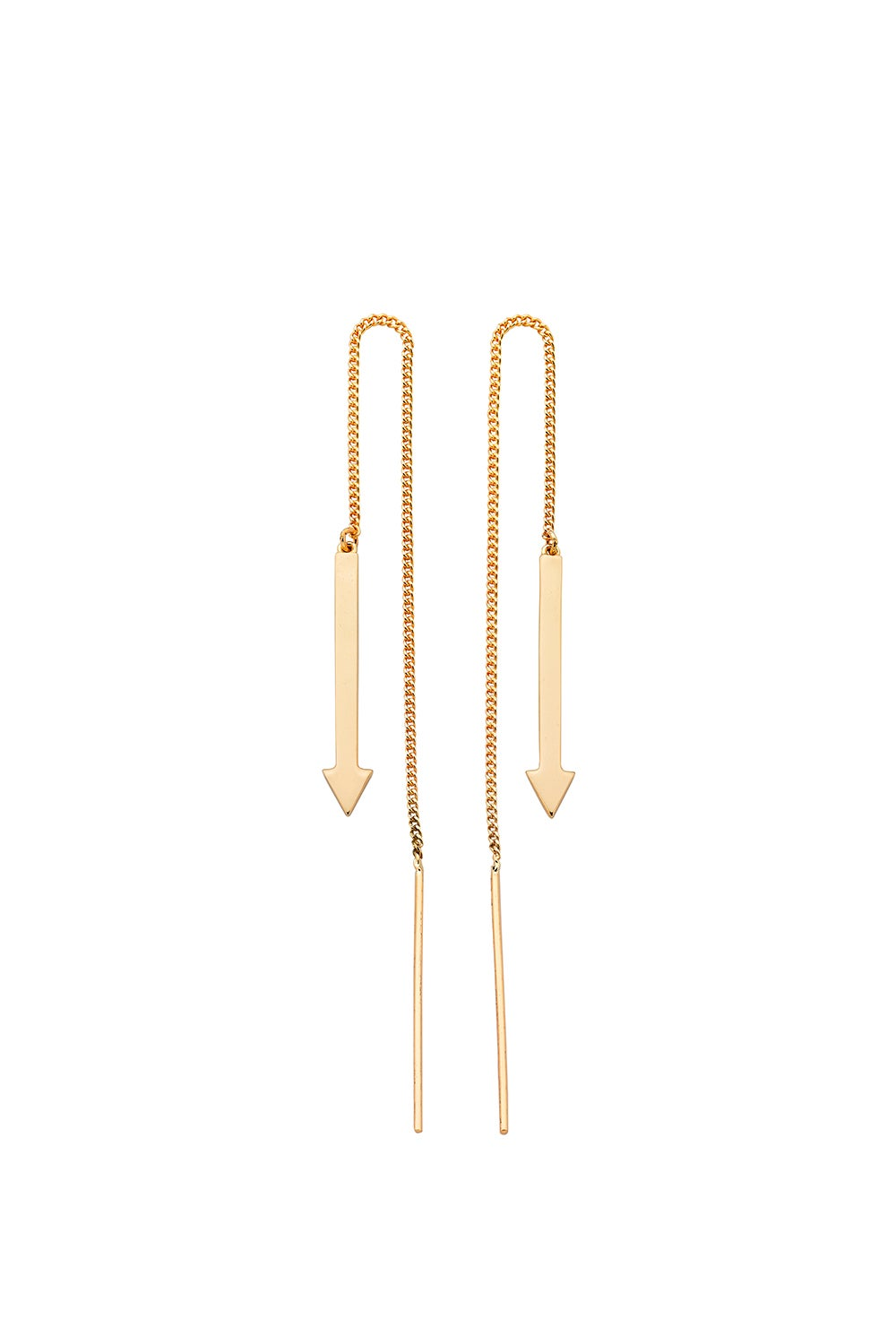 Metronome Earrings Gold