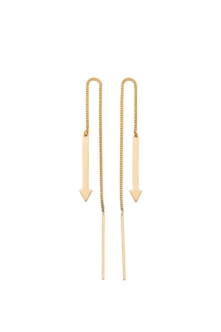 Metronome Earrings Gold