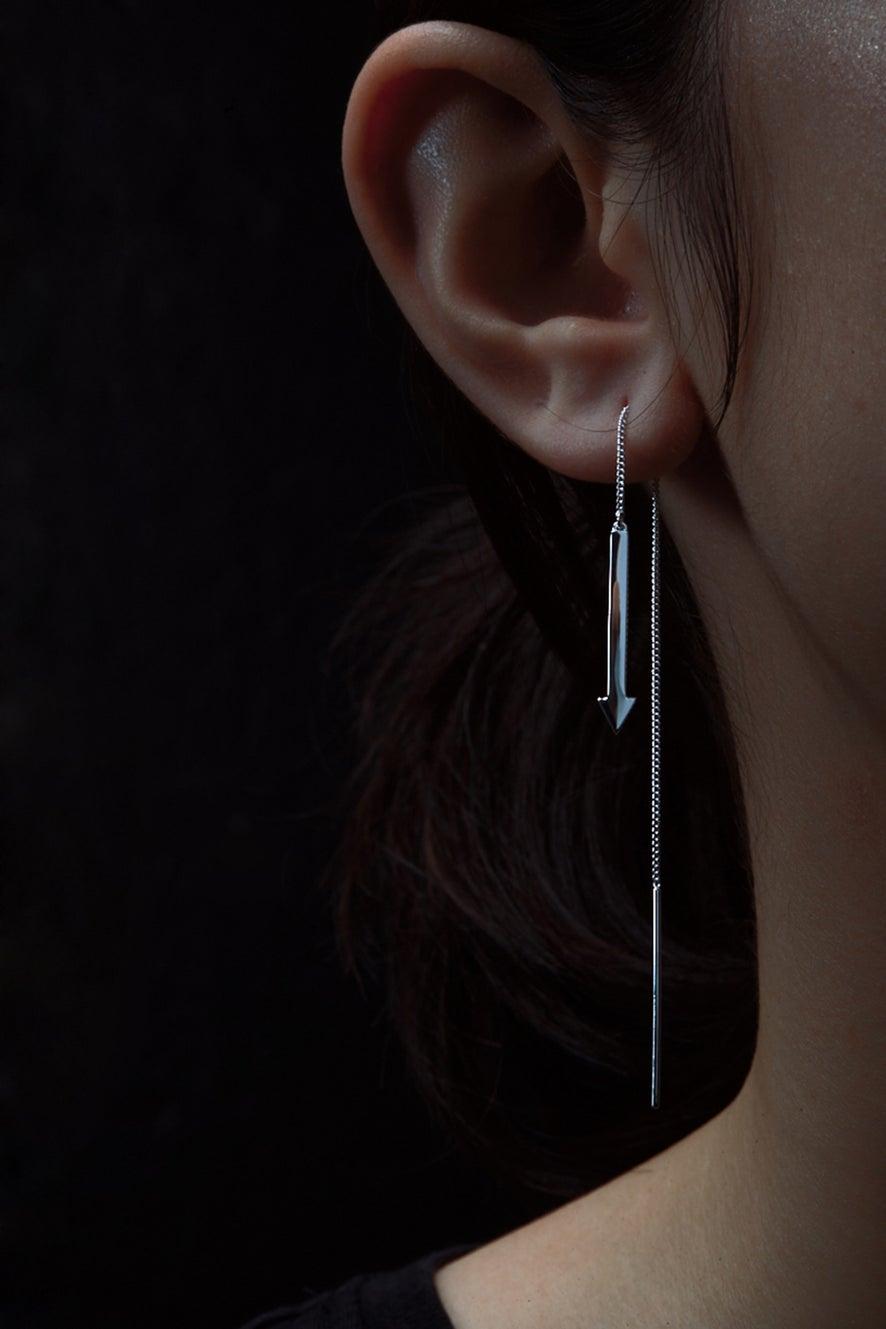 Metronome Earrings Silver