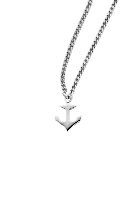 Mini Anchor Necklace Silver