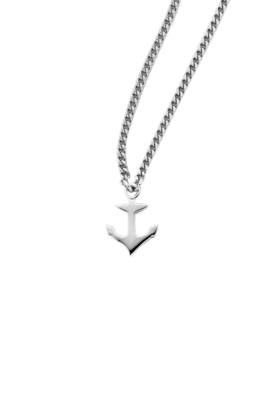 Mini Anchor Necklace Silver
