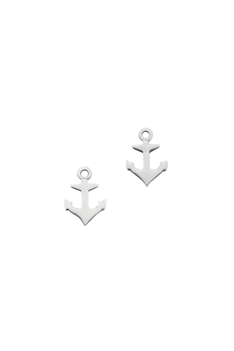 Mini Anchor Studs Silver