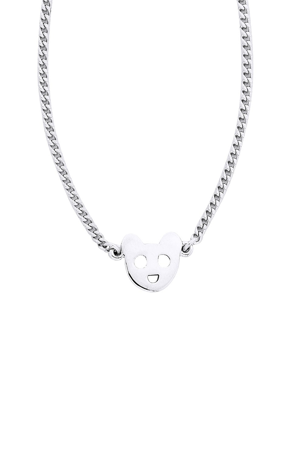 Mini Bear Necklace Silver