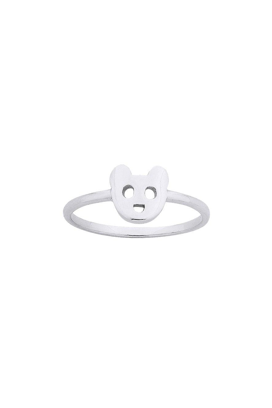 Mini Bear Ring Silver