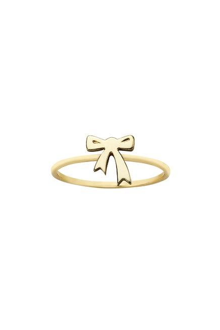 Mini Bow Ring Gold