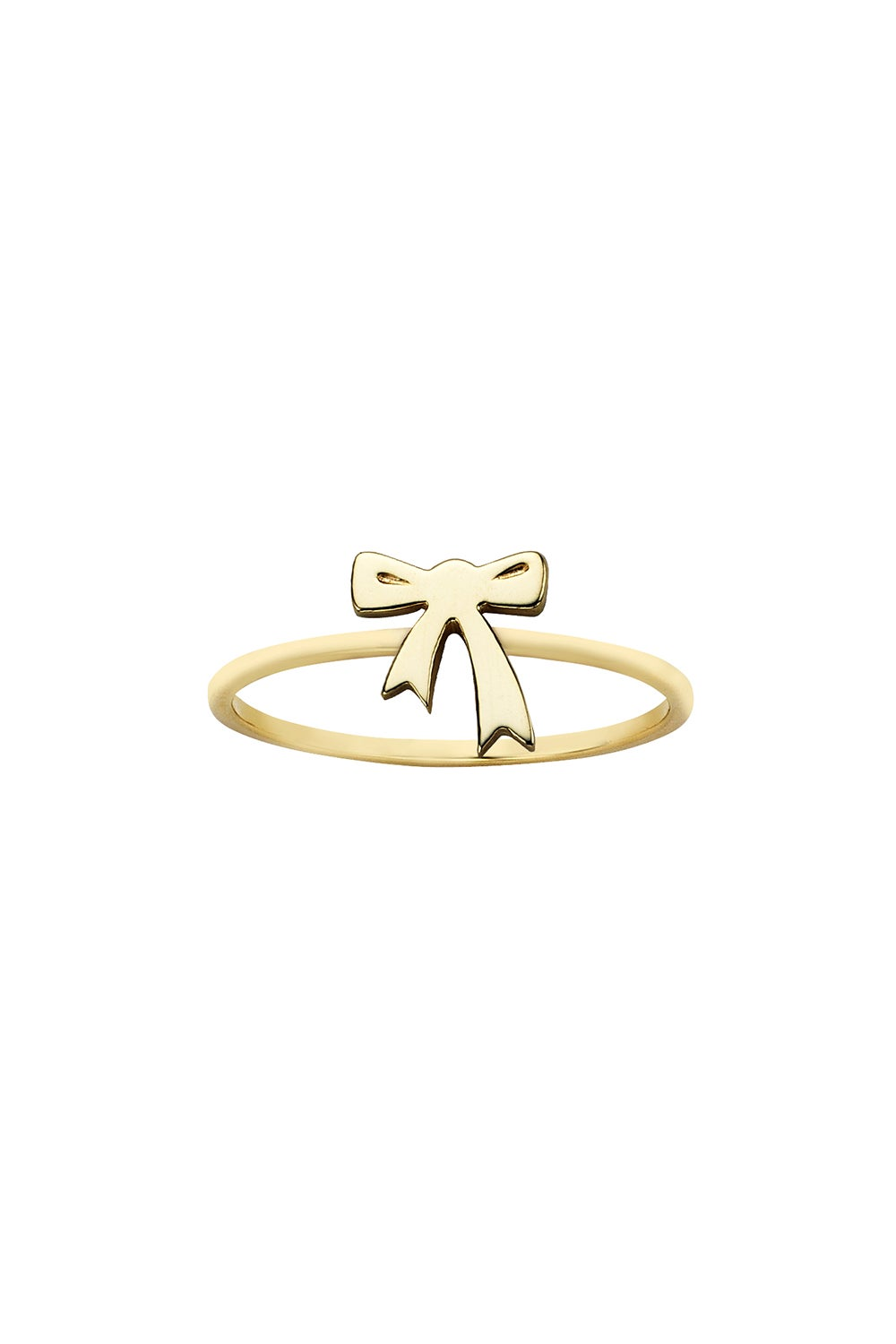 Mini Bow Ring Gold
