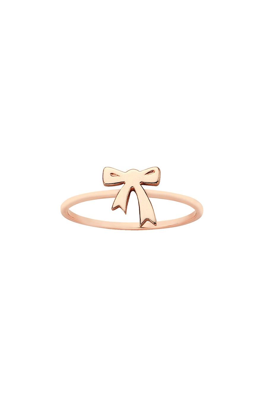Mini Bow Ring Rose Gold