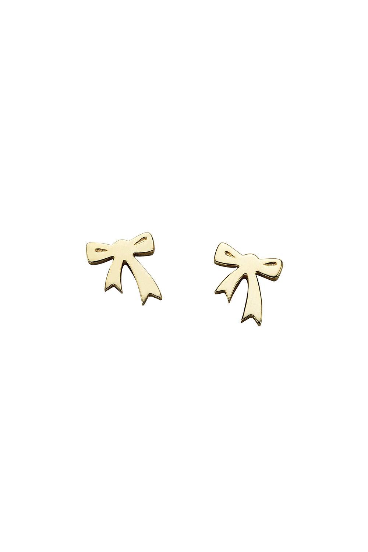Mini Bow Studs Gold
