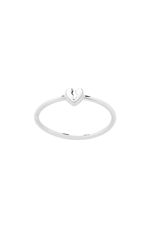 Broken Heart Ring Silver