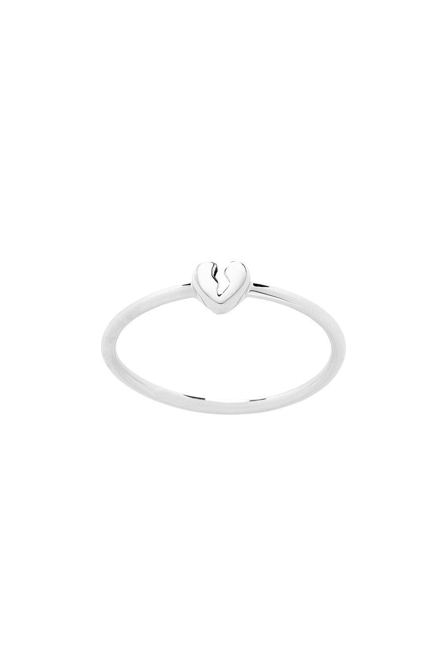 Broken Heart Ring Silver