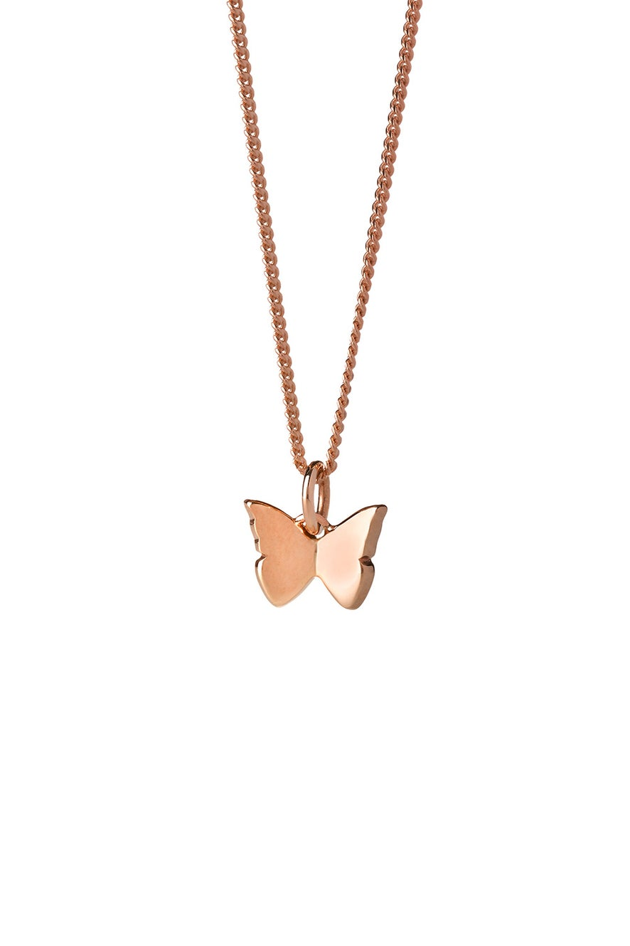 Mini Butterfly Necklace Rose Gold