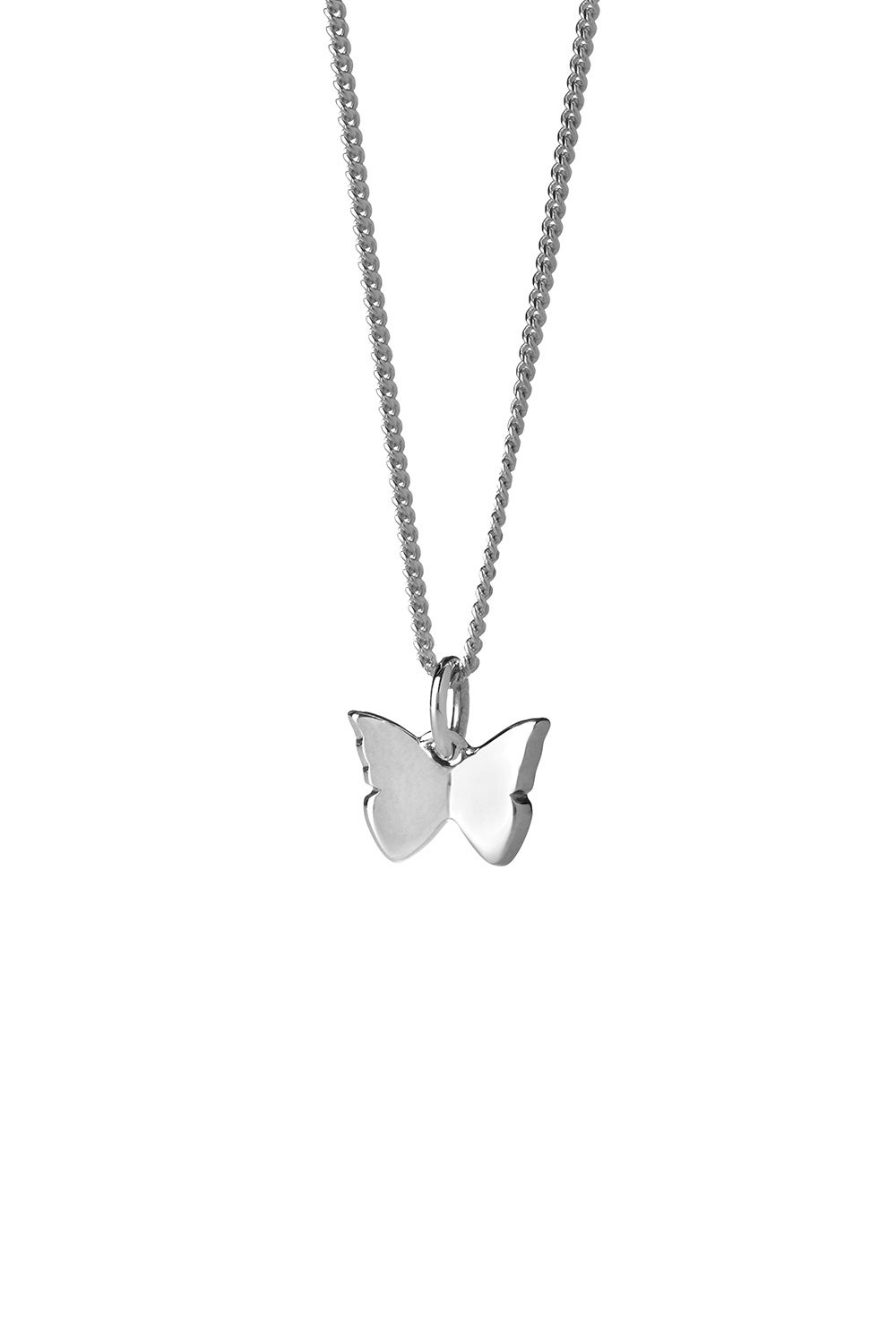 Mini Butterfly Necklace Silver