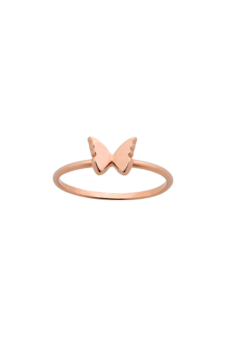 Mini Butterfly Ring Rose Gold