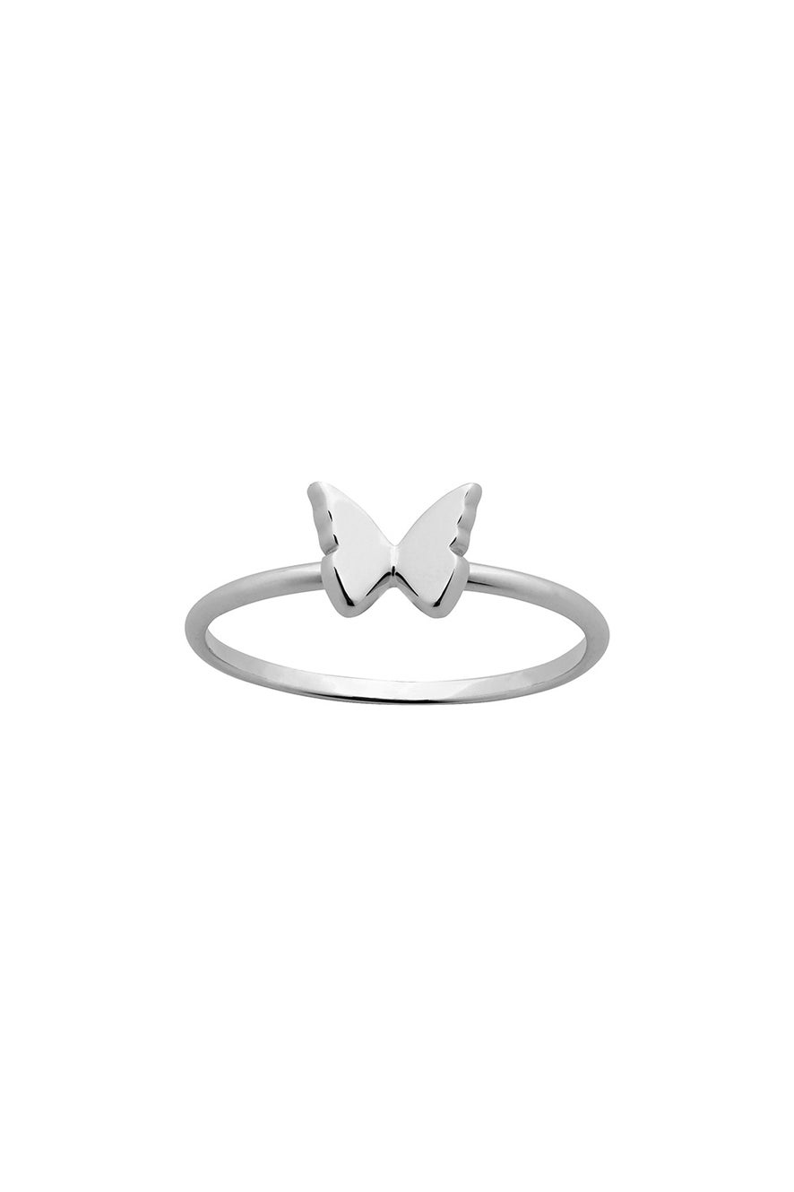 Mini Butterfly Ring Silver