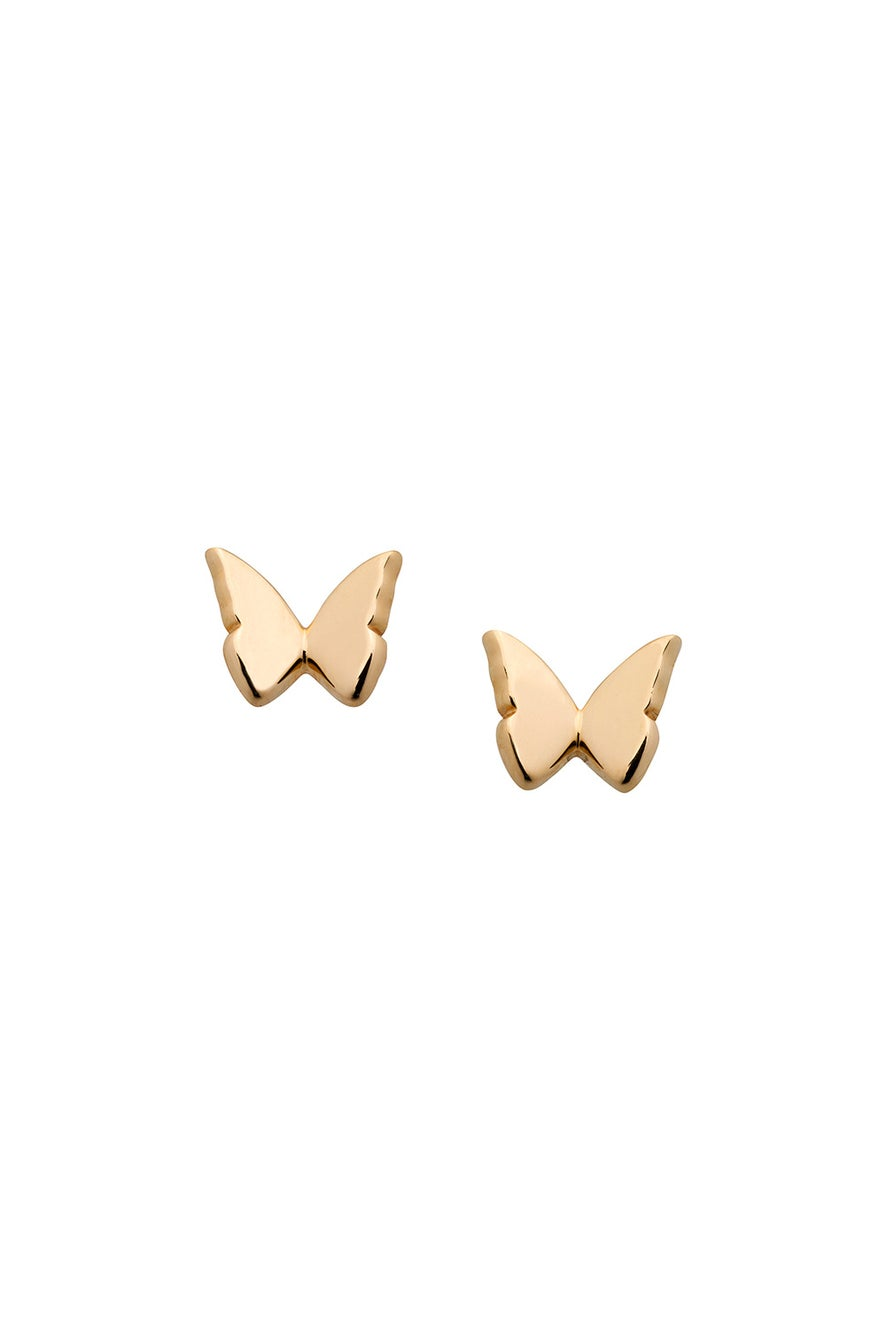 Mini Butterfly Studs Gold