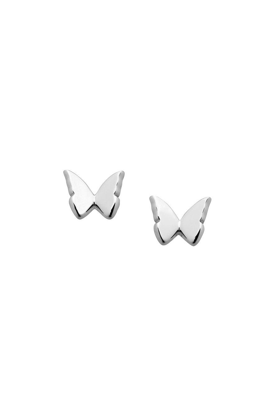 Mini Butterfly Studs Silver