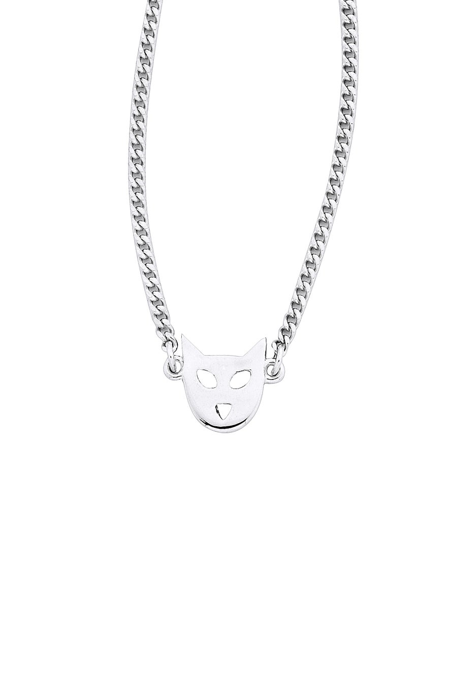 Mini Cat Necklace Silver