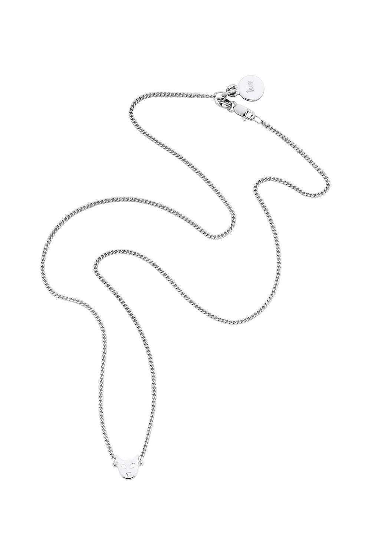 Mini Cat Necklace Silver